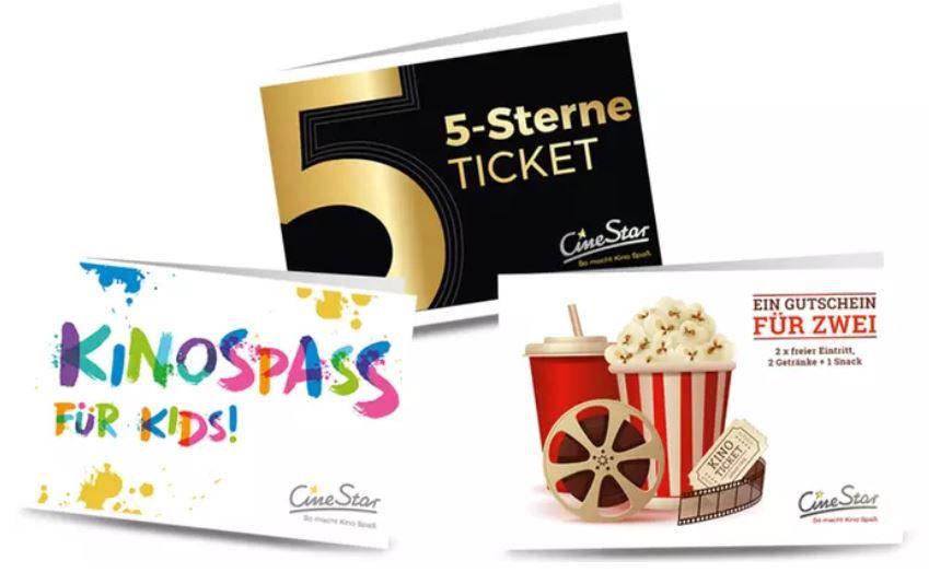Günstige CineStar Gutscheine: z.B. 2 Personen+ 2 Getränke + Snack für 25€