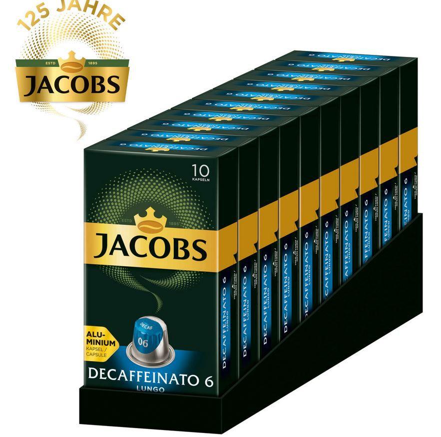 JACOBS Decaffeinato Lungo   100 entkoffeinierte Kaffee Kapseln für Nespresso für 19,53€ (statt 25€)