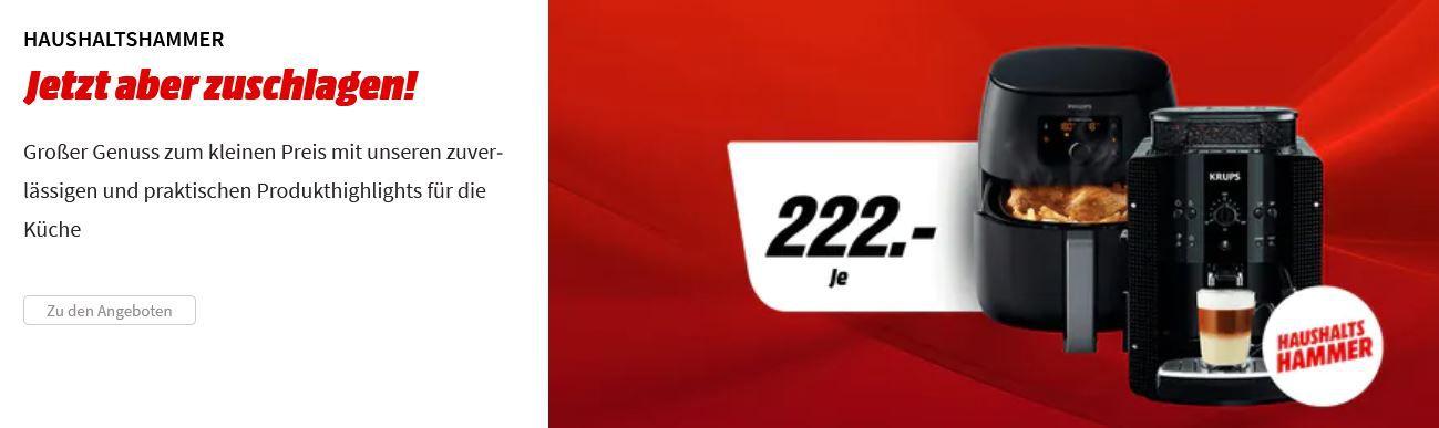 PHILIPS HD 9762/90 XXL Airfryer oder KRUPS EA 8108 Kaffeevollautomat für je 222€ (statt 249€)
