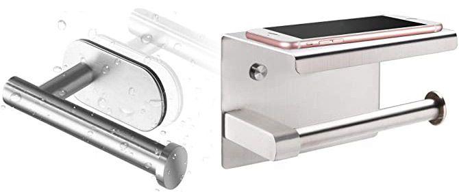 Selbstklebender Edelstahl Klopapierhalter in 2 Ausführungen ab 4,99€   Prime