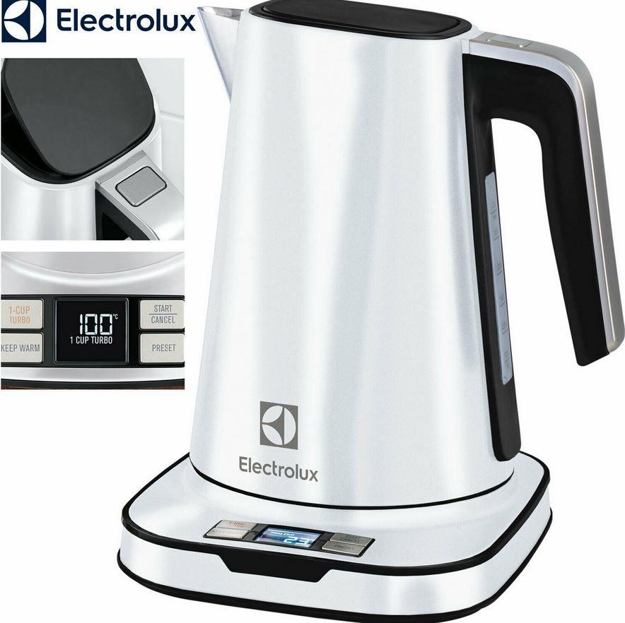 Electrolux Edelstahl Wasserkocher mit Display und Warmhaltefunktion für 39,99€ (statt 77€?)