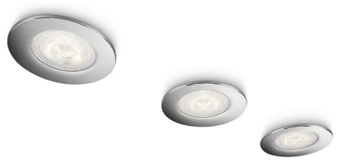 3x PHILIPS Sceptrum LED Einbauspots mit 270lm für 18,90€ (statt 25€)