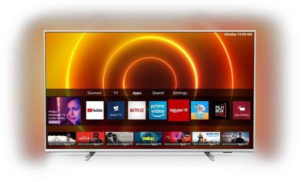 Philips 55PUS7855/12   55 Zoll UHD LED TV mit HBBTV, Alexa kompatibel & 3 Seiten Ambilight für 495,35€ (statt 629€)