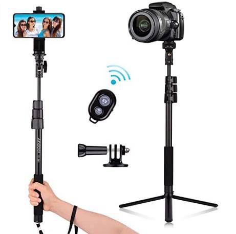Andoer Selfie Stick mit ausziehbarem Stativ für 14,99€ (statt 30€)