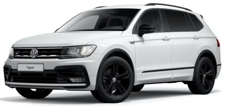 """Menschen mit Behinderung: VW Tiguan Allspace R Line """"Black Style"""" mit 200 PS & DSG für 188€ mtl.   LF 0,4"""