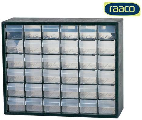 raaco Schubladenmagazin mit 36 Schubladen für 25,90€ (statt ~45€)