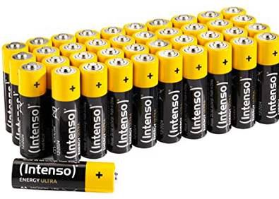 40 x Intenso Energy Ultra AA Mignon LR6 Alkaline Batterien für 6€ (statt 12€) prime