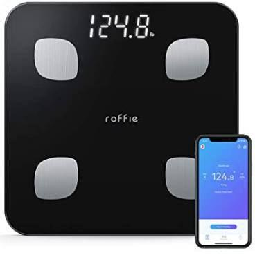 Roffie Körperfettwaage (bis 180kg) inkl. App Anbindung für 17,99€ (statt 30€)
