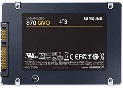 Samsung 870 QVO Interne SATA SSD 4TB für 315,63€ (statt 380€)