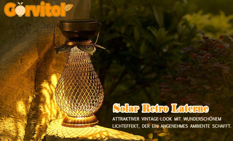 Görvitor LED Retro Solarlampe für 13,49€ (statt 25€) Prime