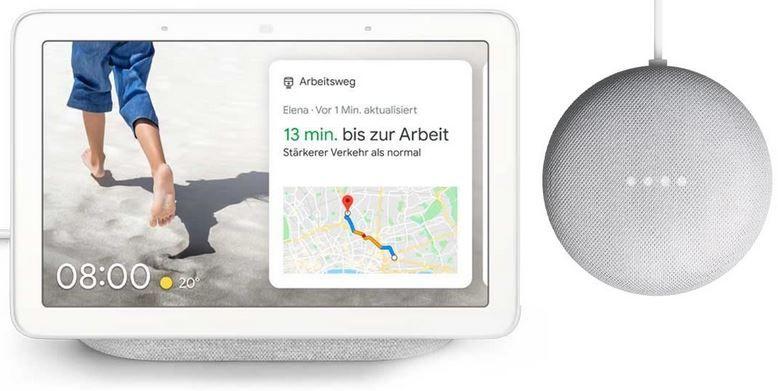 Google Nest Hub + gratis Google Nest mini für 89€ (statt 124€) + 6 Monate Spotify Premium