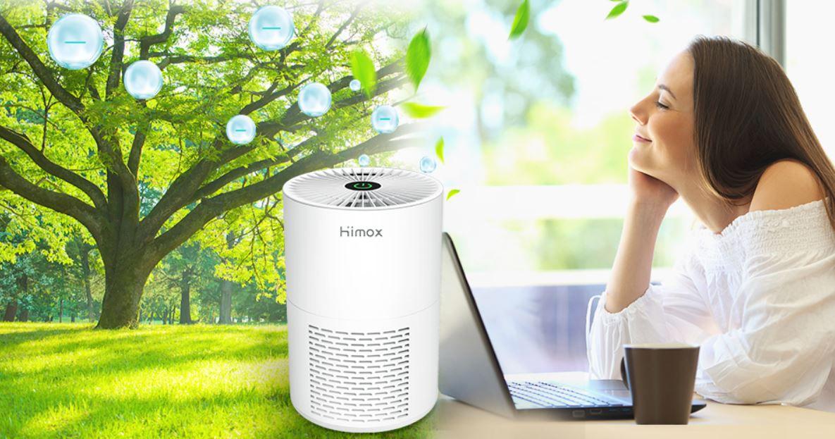 HIMOX Luftreiniger mit HEPA Doppelschichtfilter und Ionisator für 22,79€ (statt 38€)