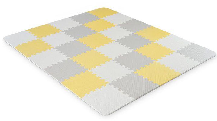 Kinderkraft Luno Schaumstoff Puzzlematte in gelb für 35€ (statt 48€)