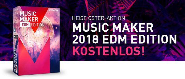 Gratis: Magix Music Maker 2018 EDM Edition (statt ca. ab 30€)
