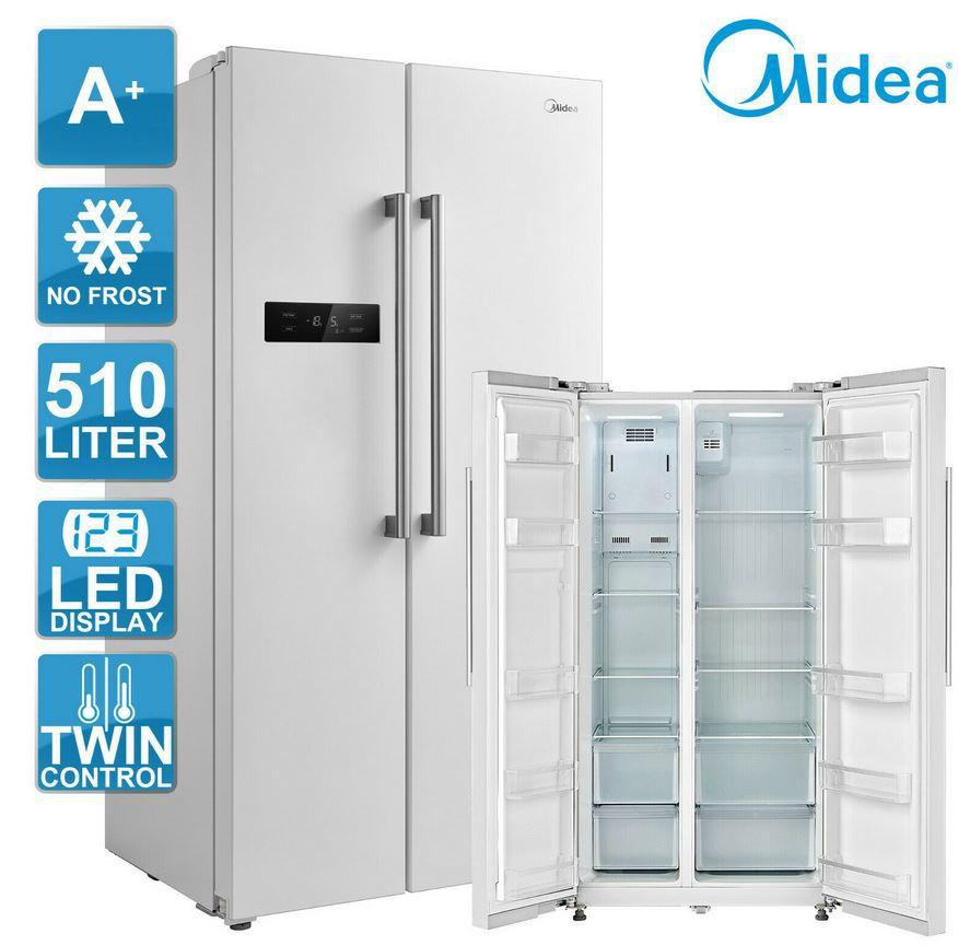 Midea KS 6.1W weiße Side by Side Kühl Gefrierkombination für 449,10€ (statt 559€)