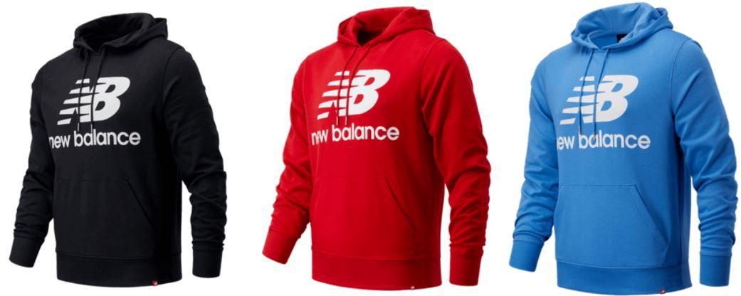 Vorbei! New Balance Essentials Stacked Logo Hoody + Jogger bis 2XL für 59,95€ (statt 85€)