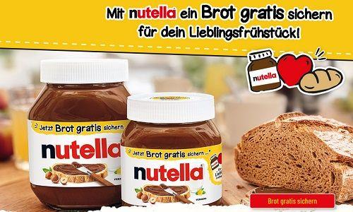 Beim Kauf von Nutella Geld für ein Brot zurück holen