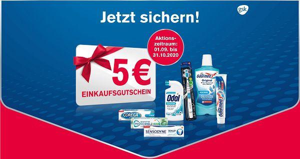 Mit dem Kauf von Zahnpflege Produkten 5€ Gutschein ergattern