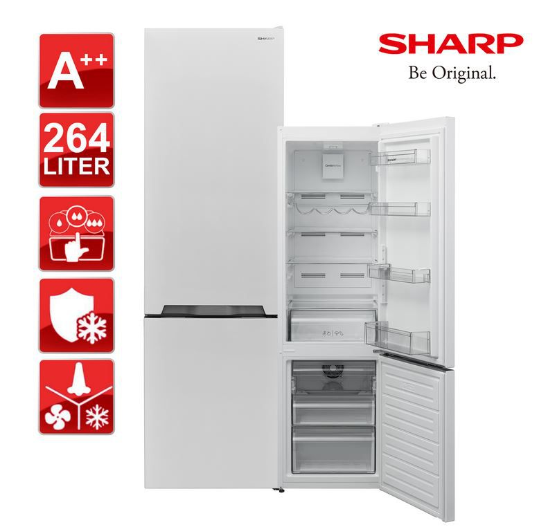 Sharp SJ BA05DTXW2 EU   264 Liter Kühl Gefrierkombination für 292,41€ (statt 341€)