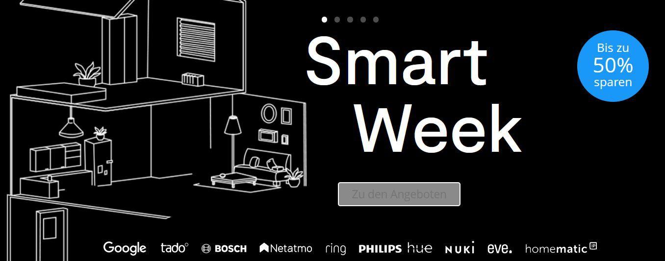 Tink Smart Week   z.B. Bosch Indego Connect 400 Mähroboter für 609€ (statt 1.002€)