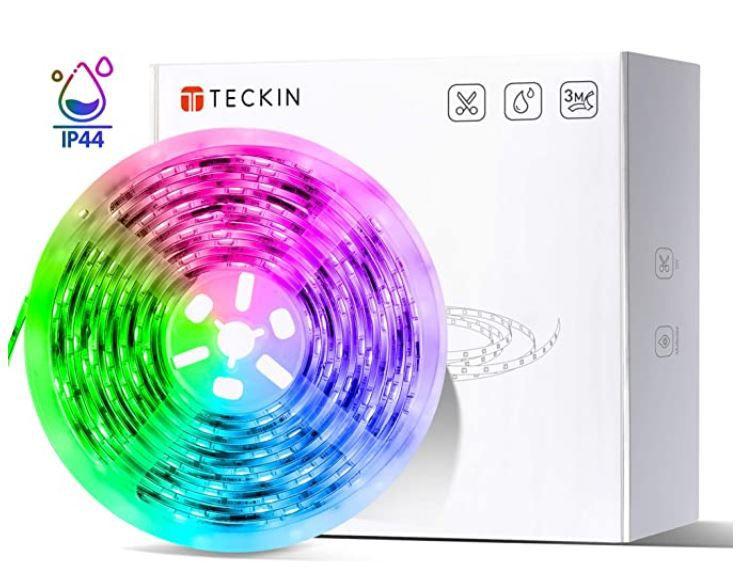 TECKIN 5m LED Streifen Selbstklebend mit Fernbedienung und Netzteil für 12,99€ (statt 18€)