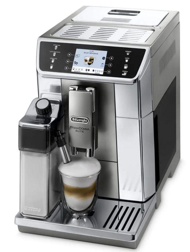 DELONGHI PrimaDonna Elite ECAM656.55.MS Kaffeevollautomat mit Kegelmahlwerk für 809,91€ (statt neu 1.315€) refurb.