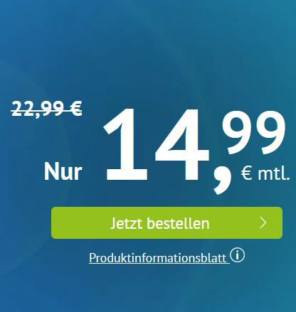 🔥 o2 Allnet Flat mit 20GB LTE ab 12,99€ mtl.   ohne Laufzeit 14,99€