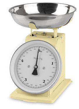 GOURMETmaxx Küchenwaage Retro in Vanille für 16,89€ (statt 24€)