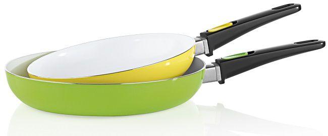 BRATmaxx Keramik Pfannen 2 tlg. 24/28cm in gelb/grün für 21,89€ (statt 33€)