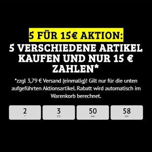 Bundelangebot – 5 für 15€-Aktion beim DealClub + Versand