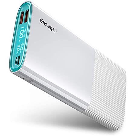 ESSAGER Powerbank mit 20000mAh USB Typ C PD QC 3.0 in Weiß für 18,19€ (statt 26€)