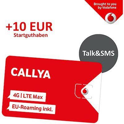 Vorbei! Vodafone CallYa Talk & SMS Prepaid Karte GRATIS + 10€ Startguthaben
