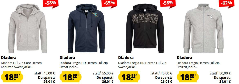 SportSpar Diadora Mega Sale: coole Sport Fashion ab 3,99€ + VSK