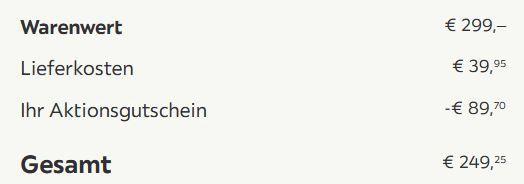 bessagi Giana ausziehbarer Küchentisch ab 209,30€ (statt 299€)