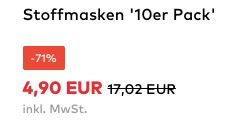 About You: Stoffmasken im 10er Pack für 4,90€