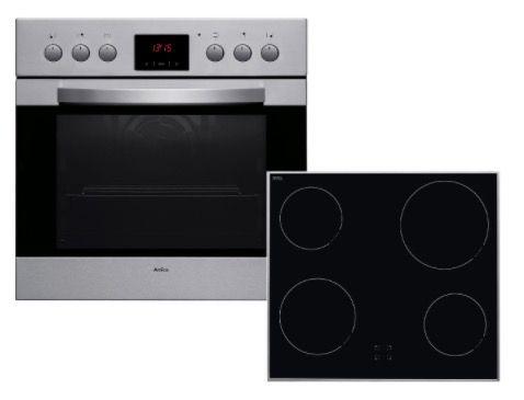 Amica EHC 12461 E Einbauherd Set mit Glaskeramik Kochfeld für 299€ (statt 404€)