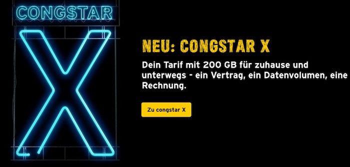 congstar X Flex: Telekom Allnet Flat mit 200GB LTE (50 Mbit/s) inkl. 2. Simkarte für 58,49€ mtl.   monatlich kündbar!