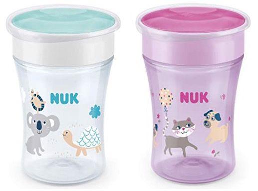4er Pack NUK Magic Cup Trinklernbecher ab 22,26€ (statt 36€)