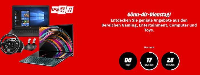 MediaMarkt Gönn Dir Dienstag   z.B. Switch Lite + Super Mario 3D All Stars für 226,09€ (statt 249€)