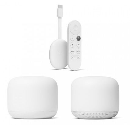 2er Set Google Nest Wifi (Router + Access-Point) + Chromecast mit Google TV für 259,95€ (statt 327€) + 6 Monate Spotify gratis