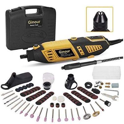 Ginour Multifunktionswerkzeug mit 170W, Werkzeug Set und 4 Aufsätzen für 20,99€ (statt 35€)