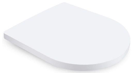 Dalmo Toilettendeckel mit Absenkautomatik und Sitzpuffern in Weiß für 23,99€ (statt 37€)