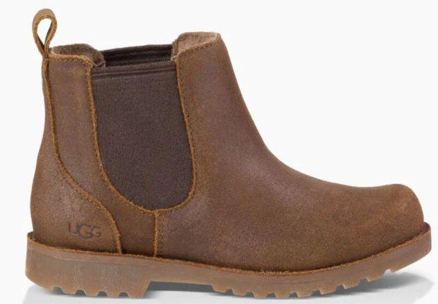 UGG Callum Chelsea Kinder Stiefel aus Veloursleder mit Woll Sohle für 39,59€ (statt 72€)