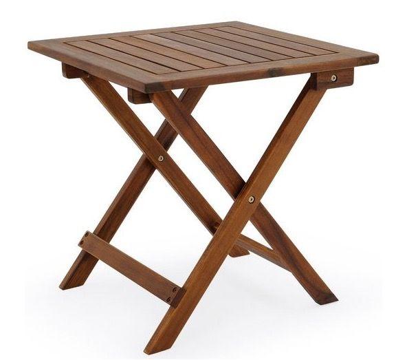 Deuba Gartentisch aus geöltem Akazienholz 46x46 cm für 14,67€(statt 30€)
