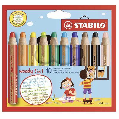 STABILO woody 3in1 Buntstifte im 10er Pack für 7,70€ (statt 13€)   Prime