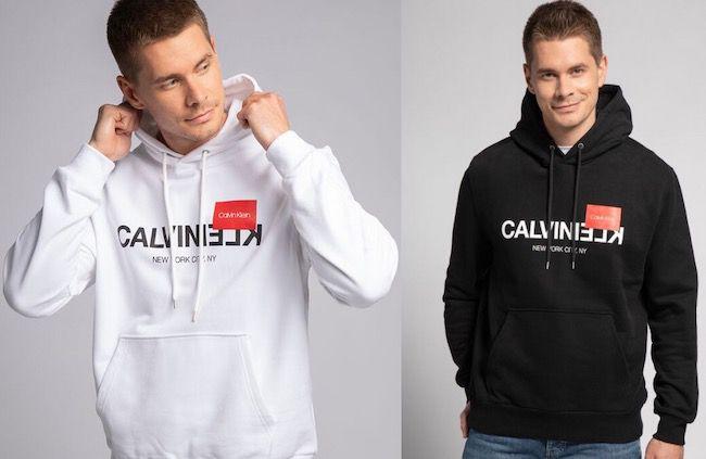 Calvin Klein Text Reverse Logo Hoodie für 53,55€(statt 84€)
