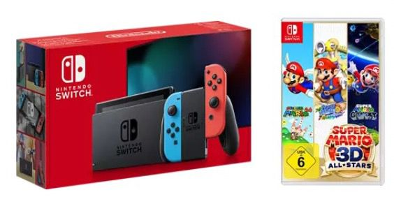 Nintendo Switch + Super Mario 3D All Stars für 339,95€ (statt 362€)