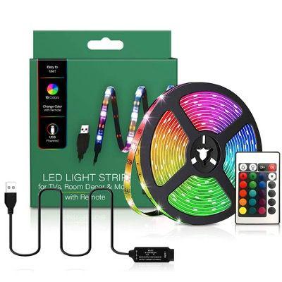 TV LED Hintergrundbeleuchtung mit Fernbedienung und 16 Farben für 7,49€ (statt 15€)