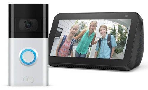 Ring Video Doorbell 3 + Amazon Echo Show 5 für 135,50€ (statt 230€)   Prime