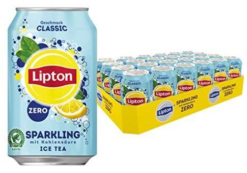 24er Pack Lipton Eistee mit Zitronen Geschmack ohne Zucker für 9,99€ + 6€ Pfand   Prime